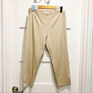 J. Jill Linen Stretch Crop Split Hem Pull-on Pants